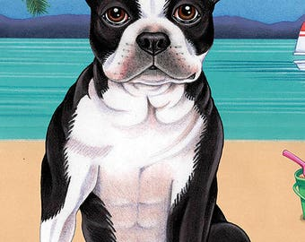 Boston Terrier Beach Towel 48032