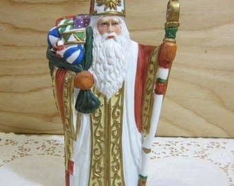 Vintage Ceramic Father Christmas Figurine * Santa Claus Figurine * * St. Nicholas Figurine