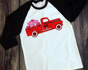 Valentine's Day Vintage Truck Iron On Decal| Iron On Decals| Diy Iron On| T Shirt| NEXT DAY SHIPPING!!