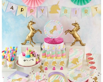 Unicorn Banner - Unicorn Party Banner - Unicorn Garland - Unicorn Bunting - Unicorn Birthday - Centerpieces - Decorations - Pennant Banner