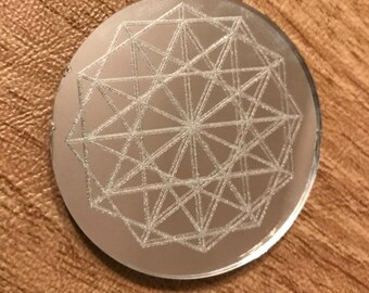 Sacred Geometry Mirror Magnet - 2 inches