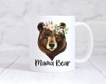 Personalized Mama Bear Mug - Mama Bear - Birthday Gift for Mom, Mother's Day Gift, New Mom Gift, Personalized Gift for Mom, Personalized Mug