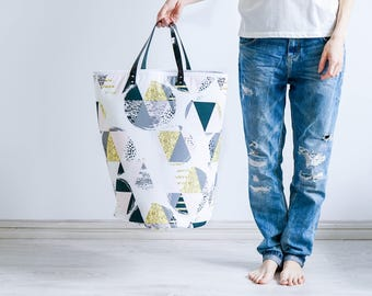 Triangle Hamper, Laundry Basket, Toy Storage, Storage Bin, Toy Basket, Nursery Storage,Toys Basket, Fabric Basket, Fabric Hamper,Home Basket