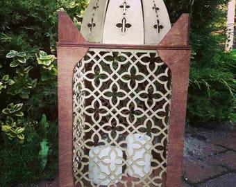 Big wooden arabic lantern for candles