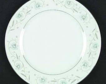 "Vintage Fine China of Japan, ""English Garden (Platinum)"" Dinner Plates"