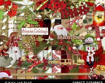 Printable Scrapbooking Megakit Santa's Kingdom