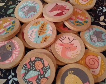 Matching Game Set, Woodland inspired, memory game, Waldorf, Montessori, preschool, matching, wood, wooden