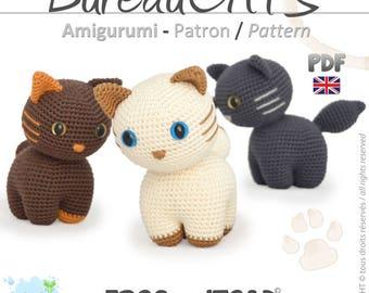 Cat - Amigurumi Crochet Pattern - PDF British Terminology