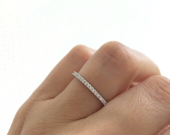 Silver Wedding Band Ring. Eternity Band Ring. Sterling Silver Stacking Ring. Stackable Ring. Silver Eternity Band Packed In A Luxury Box.