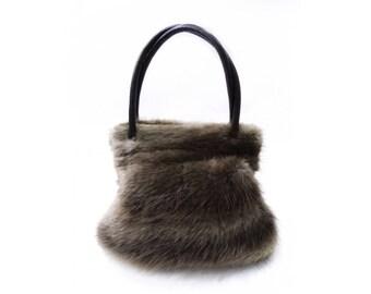 Real beaver handbag, Mom's gift F332