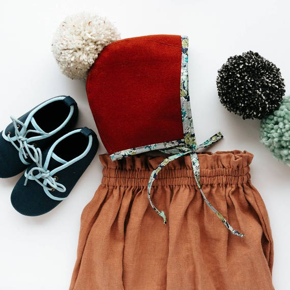 Rust and Floral Pom