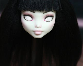 Monster High Custom Repaint Art doll OOAK Frankie Stein/Only the Head!