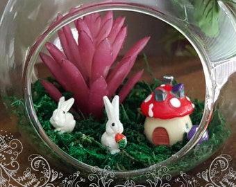Bunny Terrarium Glass ball