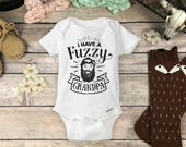 Grandpa Beard Onesies® Brand or Carter's® Bodysuit Hipster Cute Baby Clothes Pregnancy Reveal to Grandpa Baby Announcement Fuzzy Daddy onsie