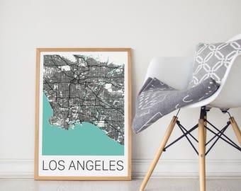 Los Angeles Map / Los Angeles Poster / LA Map / LA Art / Los Angeles City Map/ Travel Poster / Travel Art / LA Poster/ Black and White Art