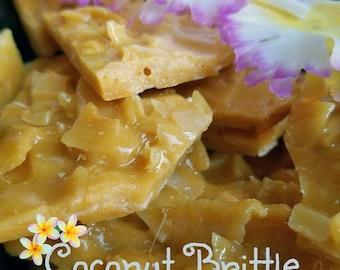 Brittle-Coconut Brittle-Brittle Candy-Quarter and Half Pounds