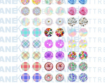 Blythe Printable DIY Eye Chips PDF Pastel/Fantasy Eyes Theme