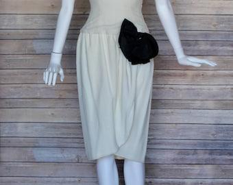 Oscar De La Renta Vintage 1980's One Shoulder Dress - Size 4 - A Legend!