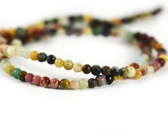 Multi-Gemstone Mixed Stones Tiny Beads 3mm