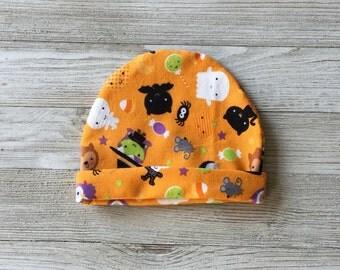 Halloween Newborn Hat, Halloween Baby Hat, Halloween Photo Prop, Baby Photo Prop, Newborn Hat, Soft Newborn Hat, Newborn Hospital Hat