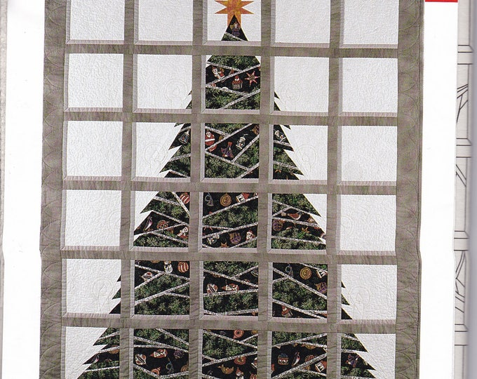 FREE US SHIP Craft Sewing Pattern RacCoon Designs Christmas Tree Windows Quilt Bob Coon Designer Unused Factory Folded