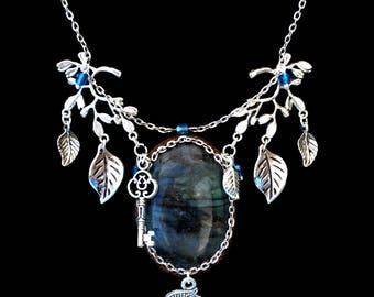 """Mystery Sylvester"" blue Labradorite necklace"
