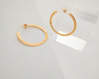 Large Sterling Silver Hoop Earrings - Silver Hoops - Big Hoops - big hoop gold silver earrings - Dainty Gold Hoops - big hoop gold earring