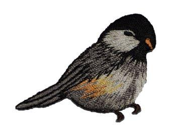 Chickadee Bird Applique Patch (Iron on)