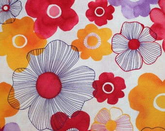 Robert Kaufman cotton woven fabric, Petal,  1/2 yd