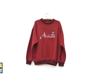 Vintage Alabama Crimson Tide Crew Neck Sweatshirt