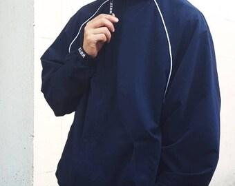 Piped Hooligan Track Jacket Navy