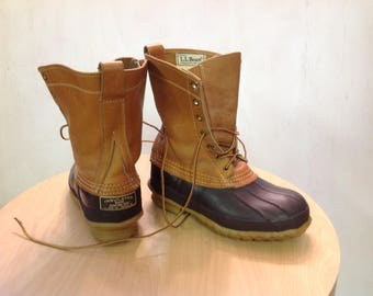 L.L.BEAN.MAINE Insulated Hunting,Duck,Winter,Leather,Vintage,Rain,Snow Boots