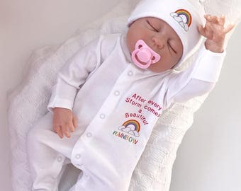 Rainbow Baby Clothes, baby shower gifts, Rainbow baby, baby Girl clothes, Baby boy clothes, baby Rompers, Baby Hats, Rainbow babyshower gift