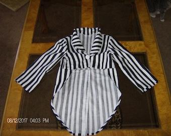 Jack Skellington Jacket Only Halloween Costume Pin Stripe Suit Style Custom Made