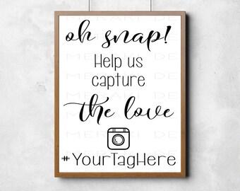 Instagram Wedding Sign, Instagram Sign, Wedding Hashtag Sign Printable, Social Media Wedding Sign, Wedding Printables, Wedding Signs