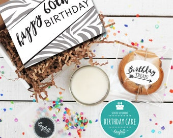 Mini Happy 60th Birthday Gift Box - Milestone Birthday | Send a Birthday Gift | Birthday in a Box | Friend Gift | 60th Birthday Card