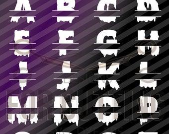 Split HALLOWEEN  Letters, Alphabet Halloween, Studio3, pdf, png, Svg, Dxf, Eps, Ai, Jpg, cutting, Digital Files, Instant Download. 0715