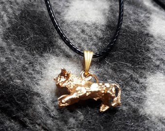 Full Gold Bull pendant necklace