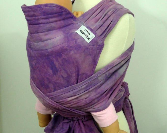 Gigotai, adjustable WCMT - wrap convertion meh dai, mei tai - purple, lilac, light grey
