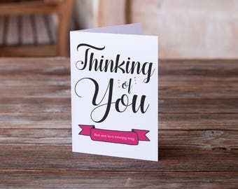 Thinking of You | Encouragement | Sympathy Card | Funny Sympathy Card | Love Card | Funny Love Card | Humor Card | Friendship Card