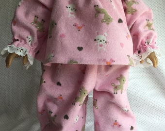 """FLANNEL SLEEPER SET Fits My American Girl and My Other 18"""" Doll"""
