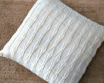 White Euro Sham 26x26 Pillow Covers 24x24 Throw Pillows Euro Pillow Sham,White Textured Euro Pillow Covers
