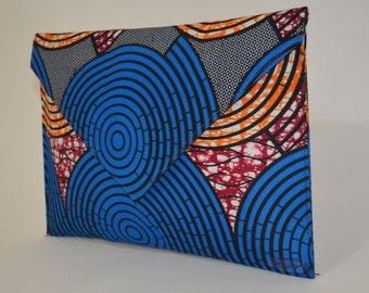 African Print envelope clutch purse