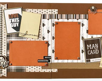 Love This Guy 2 Page Scrapbook Page Kit