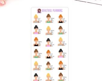 Messy Hair / Get Shit Done Planner Stickers For use in ERIN CONDREN LIFEPLANNER ™, Happy Planner, Filofax, Tn, Kikki K, Kate Spade.