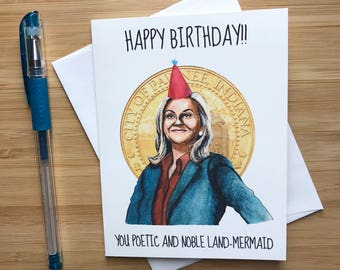 Parks and rec card Etsy