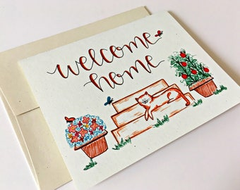 Welcome Home Card / New Home Card / Housewarming Card / Welcome Home Gift