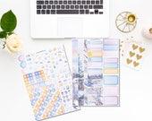Grésil - Mini kit planner stickers - 2 pages - Erin Condren - Plum Paper - Kikki K - Paperchase - Filofax