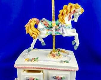 Carousel Horse Music Box