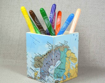 Custom usa map pencil pot wanderlust gift mothers day make custom world map pencil pot mothers day wanderlust gift pencil holder desk gumiabroncs Image collections